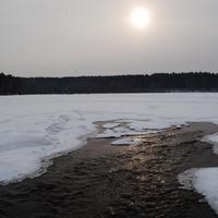Искуственное озеро на р.Карпысак.