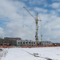Строительство дома, вид с ул. Притыцкого
