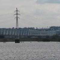 Железнодорожный мост через р. Припять, вид с ул. Нелидова