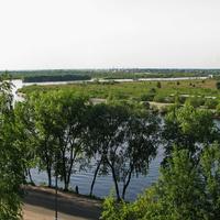 Река Припять, вид в сторону Петрикова