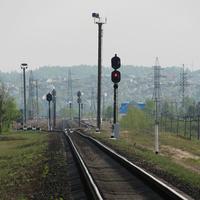 Вид на станцию Пхов со стороны Калинковичей