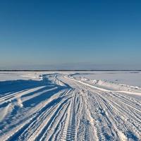 Ломбовож. Зимняя дорога через Кемпаж