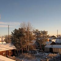 Саранпауль. Вид из окна на село.