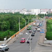 Днепровский мост, вид с Советской площади