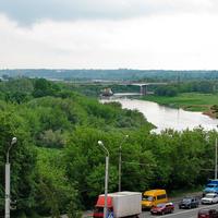 Вид на р. Днепр и мост Шмидта