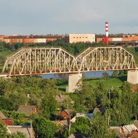 Железнодорожный мост через р. Днепр, перегон Могилев 3 - Луполово