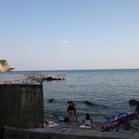 Пляж и мостик