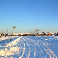 Саранпауль. Зимняя дорога.