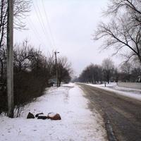 Дорога к магазину со стороны школы