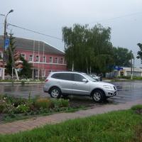 Центр поселока Солнцево  Курской области, август 2012 г.