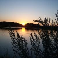 Песчаный крьер в д. Зуевка. Заход солнца. Июль 2012 г.