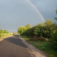 Радуга. Объездная дорога пос. Солнцево. Август 2012 г.