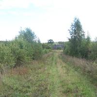въезд в деревню Быльчино со стороны Сосниц, август 2012 года