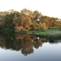 река Протва, закат (д.Залучное)
