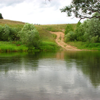 брод через реку Протва (д.Залучное)