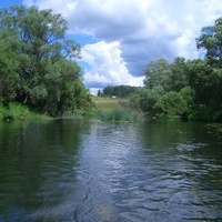 река Протва (д.Залучное), вид на кладбище рядом с п.Дуброво