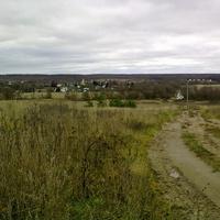 вид на д.Залучное с Дубровской горы (осень 2011 г.)