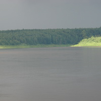 Река Пинега в районе поселка Кулосега