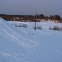 Спуск у речке Сульца зимой