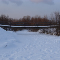 Мостик через речку Сульца