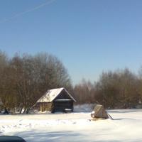 деревня Заболотье зимой