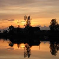 Закат в Юшкозере.