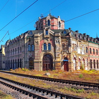 Вокзал Дебальцево с тыла