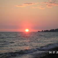 Закат на пляже.Солоники.