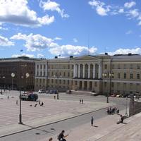 Хельсинки. На Сенатской площади.