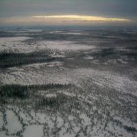 Ломбовож. Вид с вертолёта на Западную Сибирь