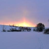 Восход солнца над рекой Упа
