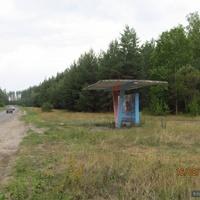 Остановка Кулики на дороге Михайловка - Лебедин