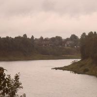 Река Сясь. Вид из деревни Хамонтово