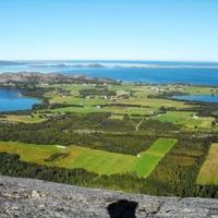 Вид на местечко Fremstad с горы