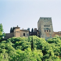 Гранада.  Стены  Альгамбры.