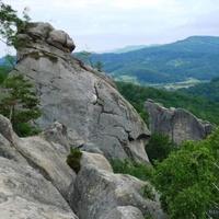 Бубнище.Панорама скель Довбуша.