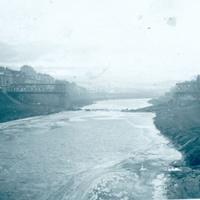 Retro. Чортків , ріка Серет періоду 2 Світової війни.