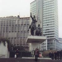 Брюссель. Скульптура Дон Кихот и Санчо Панса.
