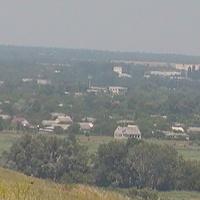 вид села Солдато -Александровского с гор