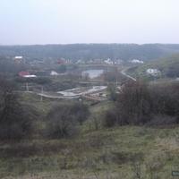 Репное. Нижняя часть села. Возле пруда.