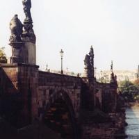 Прага. Карлов мост. Влтава.