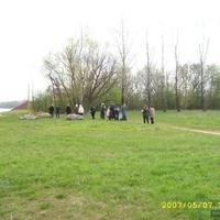 Братская могила - памятник погибшим воинам 55 армии