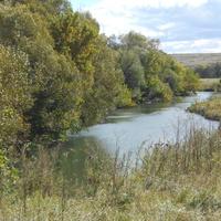 Излучина реки Красивая Меча у Костомаровского подъёма