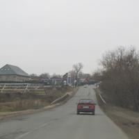 Дорога через Звягинскую плотину