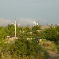 Вид с Юнкома на Енакиевский металлургический завод.