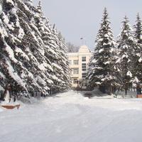 Первый снег. Мэрия. 2012 год