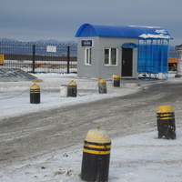 Хомутово. Автобусная остановка в аэропорту.