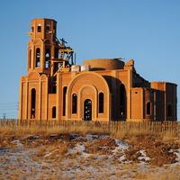 Строящаяся церковь Пантелеймона Целителя. Декабрь 2012.