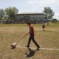 Районная летняя спортокиада. Разметка поля.