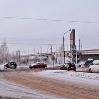 Перекресток Ленинградского и улицы Папанина